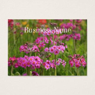 Het roze Visitekaartje van Bloemen Visitekaartjes