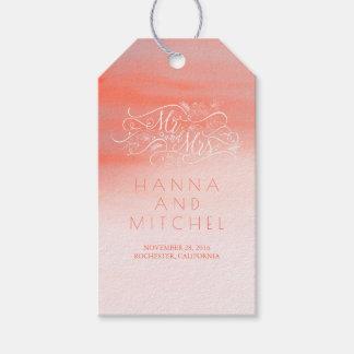 Het roze Witte Huwelijk van de Typografie van de Cadeaulabel