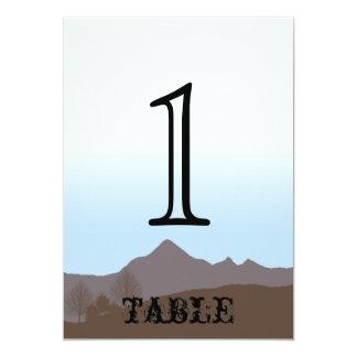Het rustieke Aantal van de Lijst van het Jubileum 12,7x17,8 Uitnodiging Kaart