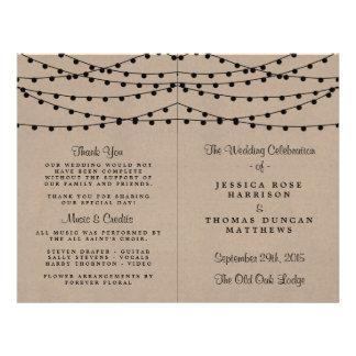 Het rustieke Collectie van het Huwelijk van de Flyer 21,6 X 27,9 Cm
