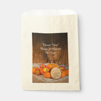 Het rustieke Huwelijk van de Herfst van Pompoenen Bedankzakje