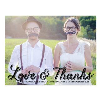 Het rustieke Huwelijk van de Kalligrafie dankt u Briefkaart