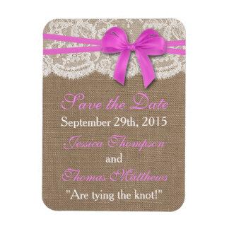 Het rustieke Roze Collectie van het Huwelijk van Magneet