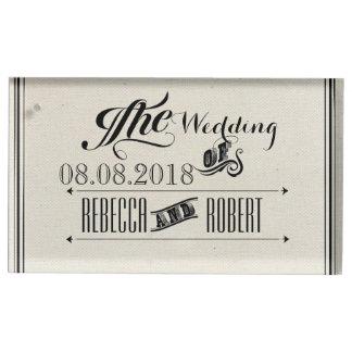 het rustieke vintage huwelijk van het Bord van de Plaatskaart Houder