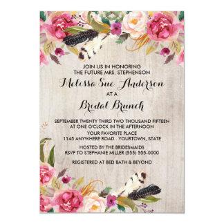 Het rustieke Vrijgezellenfeest van Bloemen en van 12,7x17,8 Uitnodiging Kaart