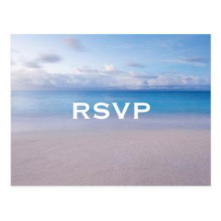 Het rustige Briefkaart van het Strand RSVP