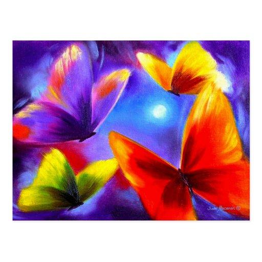 Het schilderen van de parade van de vlinder kunst wenskaarten zazzle - Associatie van kleur e geen schilderij ...