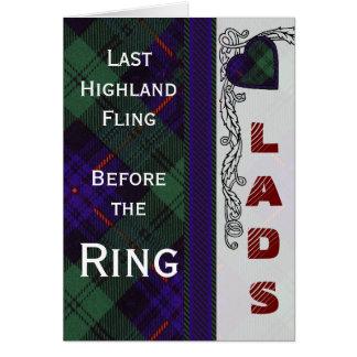 Het Schotse Geruite Schotse wollen stof van Briefkaarten 0