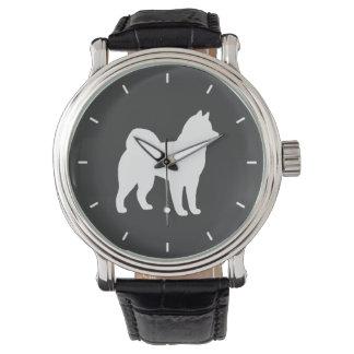 Het Silhouet Malamute van Alaska Horloges