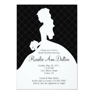 Het Silhouet van de bruid - Vrijgezellenfeest 12,7x17,8 Uitnodiging Kaart