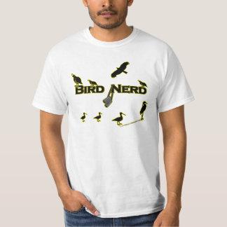Het Silhouet van Nerd van de vogel T Shirt