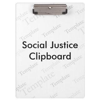 Het sociale Klembord van de Rechtvaardigheid