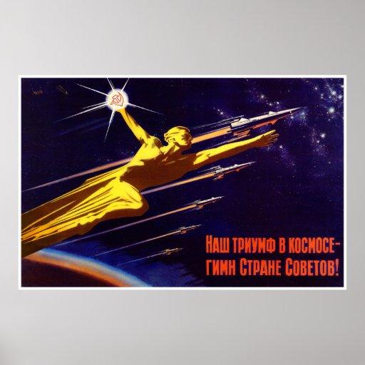 Het sovjet RuimtePoster van de Propaganda Posters