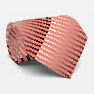 Het stip van het satijn - koraal en tin persoonlijke stropdassen