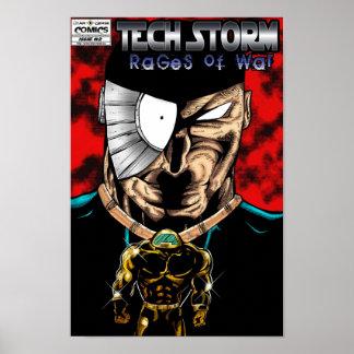 HET STORM VAN TECHNOLOGIE: Woede het Poster van va
