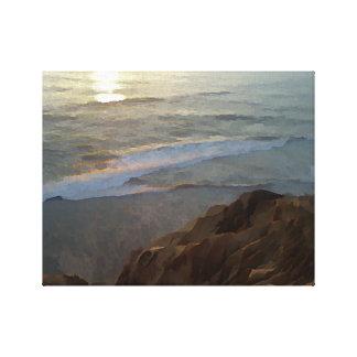 Het Strand van de Pijnbomen van Torrey Canvas Afdruk