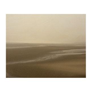 Het Strand van het Storm van Portmeirion Hout Afdruk