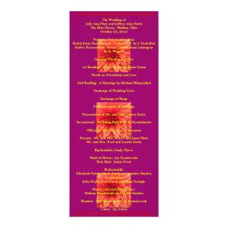 Het super Koele programma van het Huwelijk 10,2x23,5 Uitnodiging Kaart