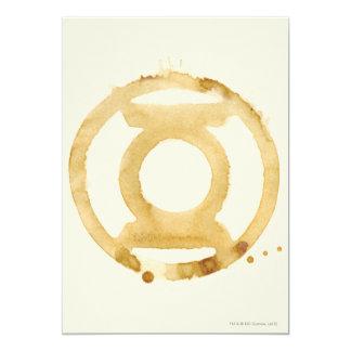 Het Symbool van de Lantaarn van de koffie 12,7x17,8 Uitnodiging Kaart