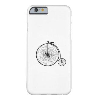 het symboolsihouette van de vintage fiets antiek barely there iPhone 6 hoesje