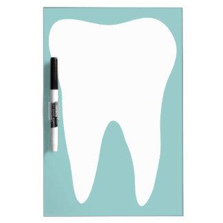 Het tand droge kantoor wist raad voor tandarts whiteboard