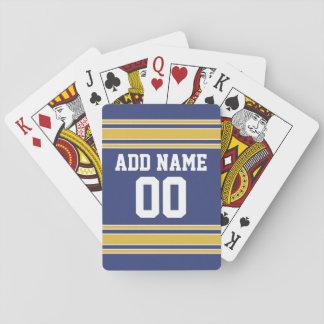 Het Team Jersey van sporten met de Naam en het Speelkaarten