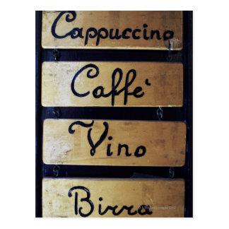 Het teken van de koffie, van de Wijn en van het Briefkaart
