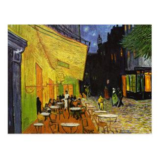 Het Terras van de koffie in Night Van Gogh Briefkaart