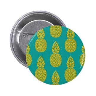 Het tropische Hawaiiaanse Patroon van de Ananas om Ronde Button 5,7 Cm