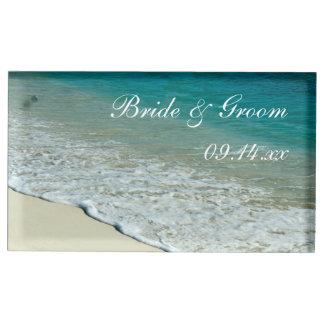 Het tropische Huwelijk van het Strand Tafelnummer Houder
