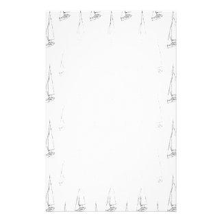 Het varende Patroon van de Boot. Zwart-wit. Briefpapier
