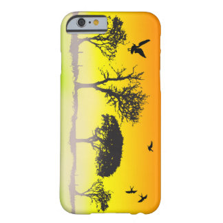 Het vector Silhouet van de Boom Barely There iPhone 6 Hoesje