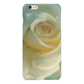 Het vector Wit nam toe iPhone 6 Plus Hoesje Glanzend
