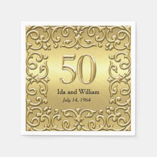 Het versierd Gouden Jubileum van het Lijst Wegwerp Servetten