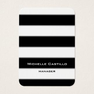 Het verticale Zwarte Witte Ontwerp van de Kunst Visitekaartjes