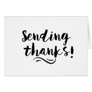 Het verzenden van Bedankt Briefkaarten 0