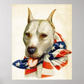 Het vintage Amerikaanse Patriottische Poster van d