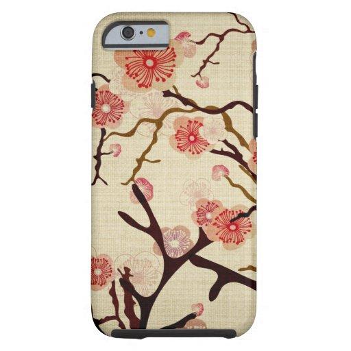 Het vintage Geval van de boom van de Kers Tough iPhone 6 Hoesje