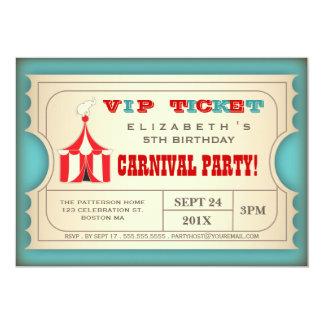 Het vintage Kaartje van de Partij van de 12,7x17,8 Uitnodiging Kaart