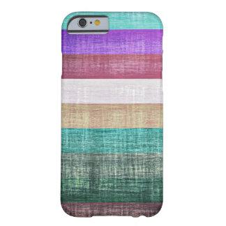 Het vintage Kleurrijke Patroon van Strepen Barely There iPhone 6 Hoesje