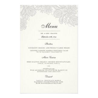 Het vintage Menu van het Diner van het Huwelijk Flyer 14 X 21,6 Cm