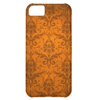 Het vintage Oranje Behang van het Damast iPhone 5C Cover
