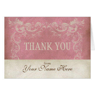 Het vintage Perkament kijkt Zaken dankt u nota Briefkaarten 0