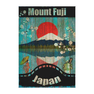 Het vintage Poster van de Reis - Japan Canvas Afdrukken