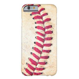Het vintage Rood van het Honkbal stikt dicht Barely There iPhone 6 Hoesje