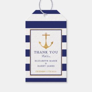 Het vintage Zeevaart Gouden Huwelijk van het Anker Cadeaulabel
