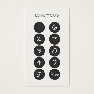 Het Visitekaartje van de Stempel van de loyaliteit Visitekaartjes