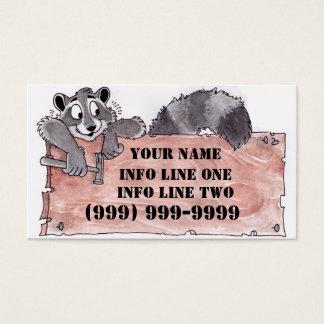 Het Visitekaartje van de Timmerman van de wasbeer Visitekaartjes