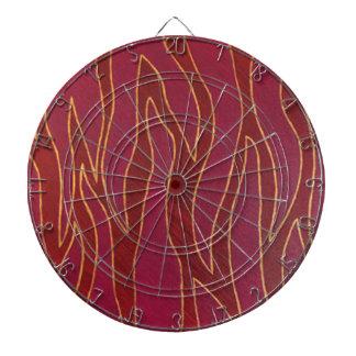 Het vlammende Gestreepte abstracte Dartboard van h Dartbord