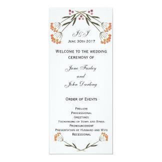 Het volks Programma van het Huwelijk van Bloemen